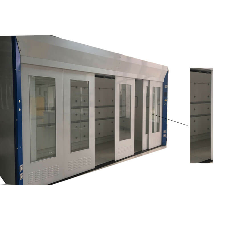 All steel walk in fume hood with gas
