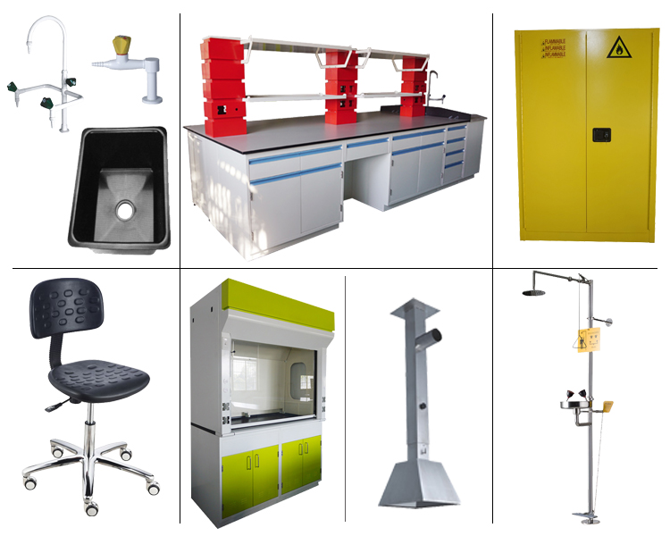 Lab furniture product models.