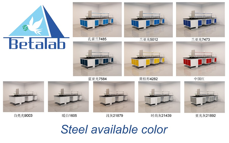 lab furniture color chart