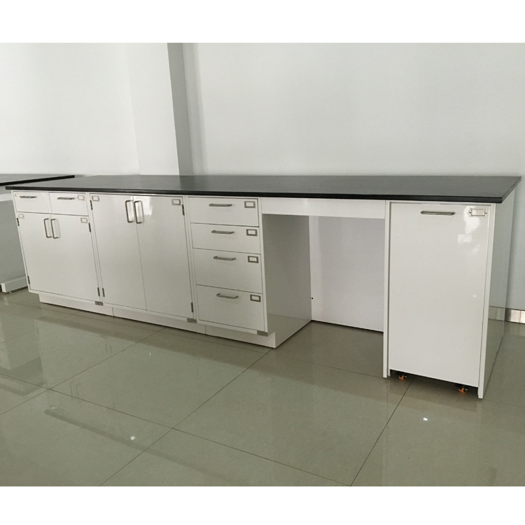 China laboratory furniture supplier products floor mounted steel lab bench