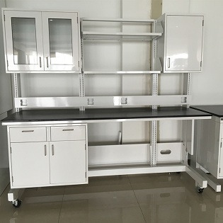 High quality lab furniture steel material chemical resistance lab work tables