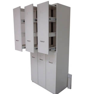 chemical reagent pull-out cabinet with steel bracket lab tall cabinet