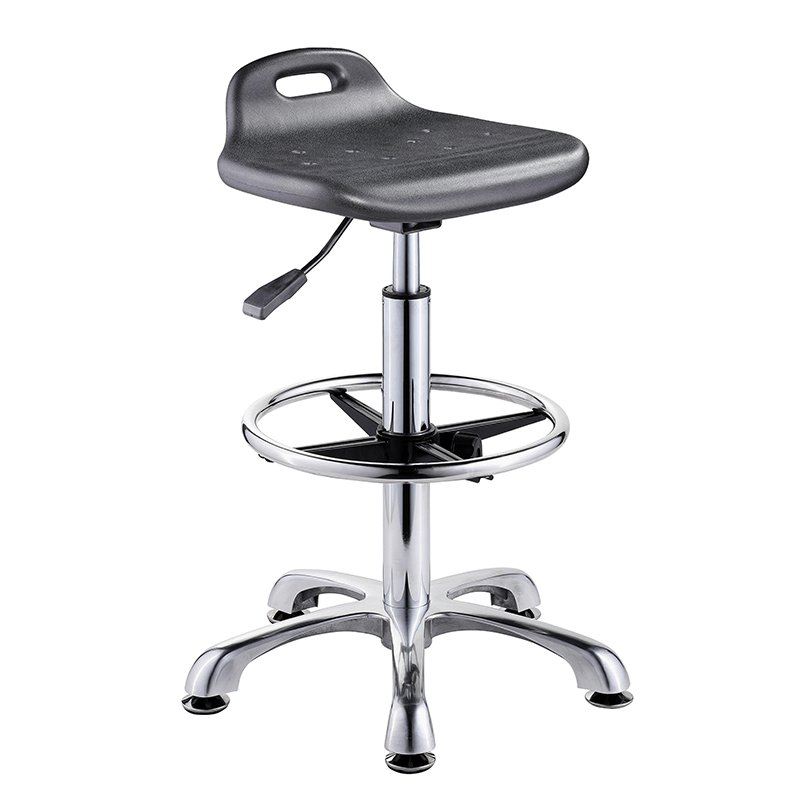 High quality Height adjustable PU cushion lab stool