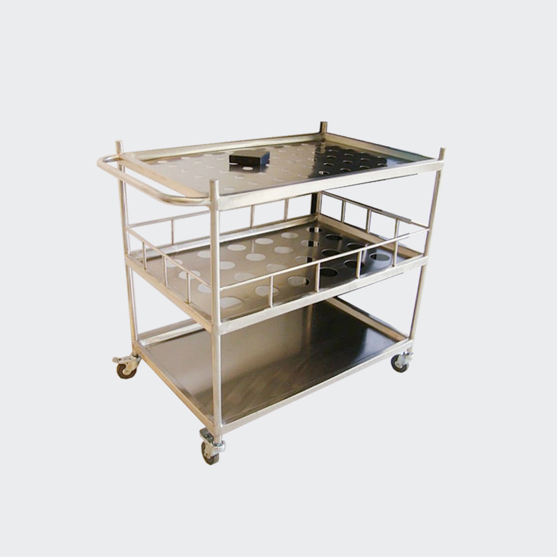 Best Quality 304 Stainless Steel Guardrail Lab Trolley